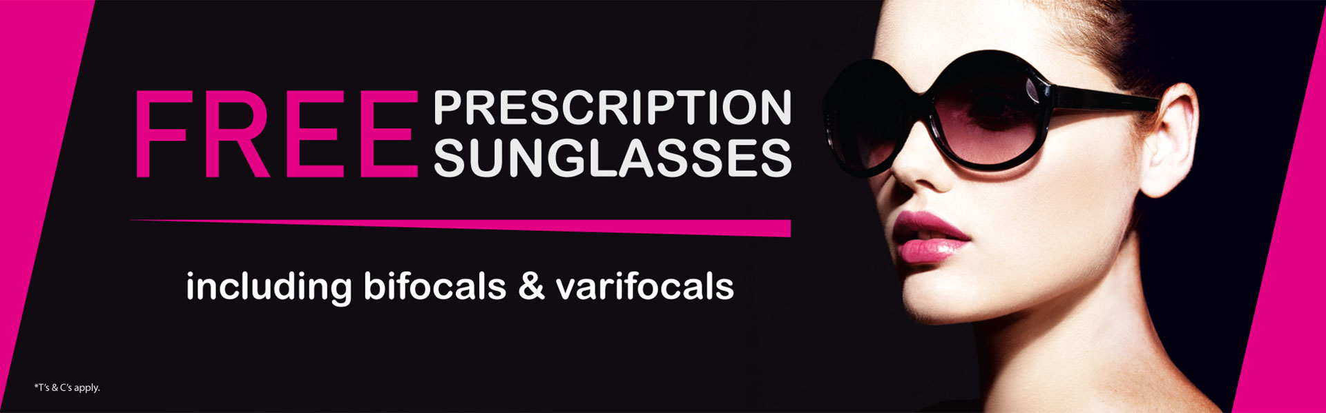 free prescription sunglasses banner