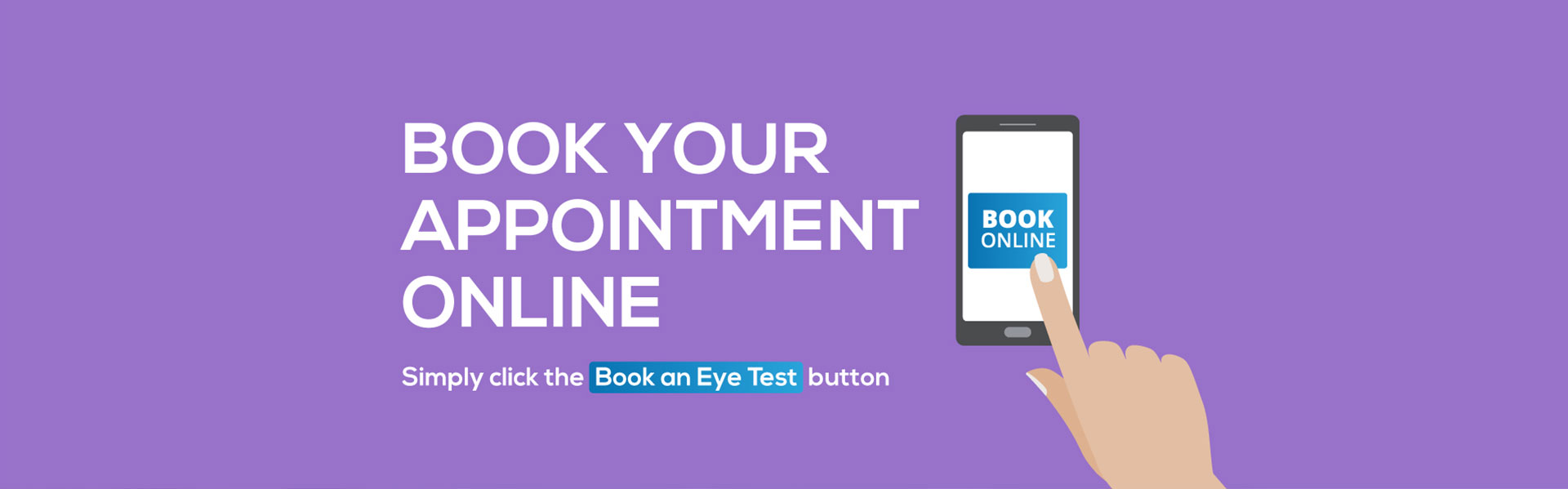 banner for online appointment booking
