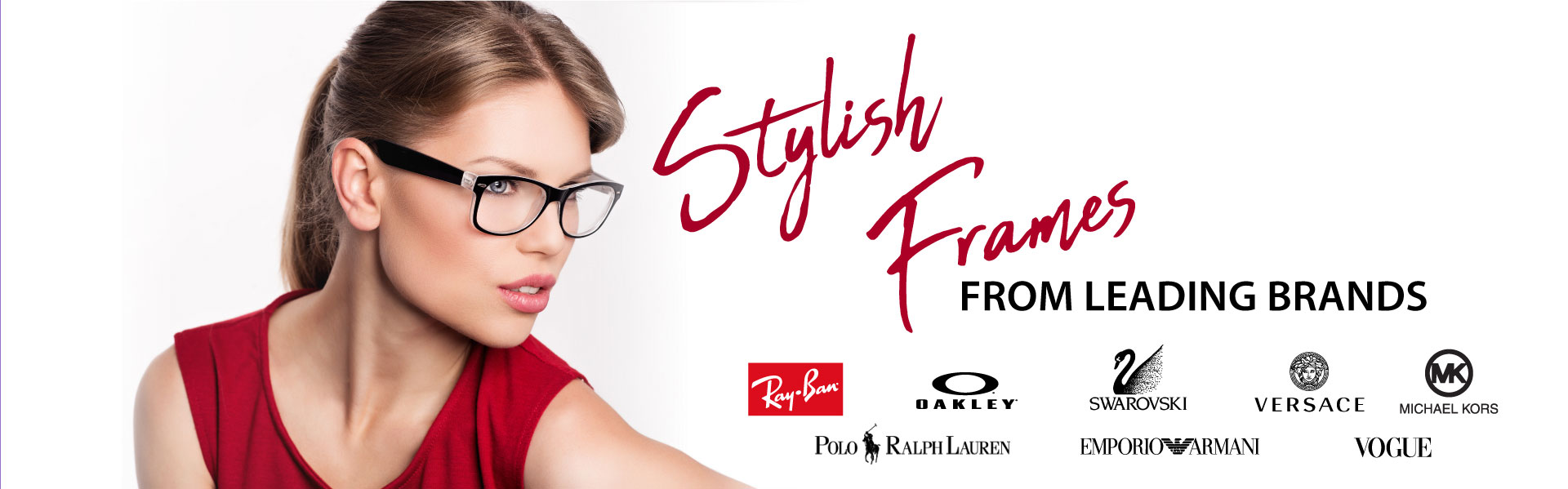 Stylish Frames from leading brands banner