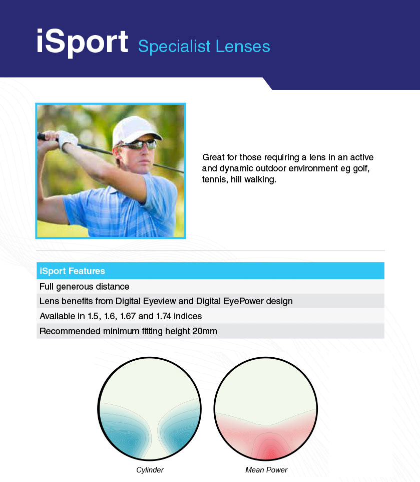 a golf player wearing glasses with iSport Lenses