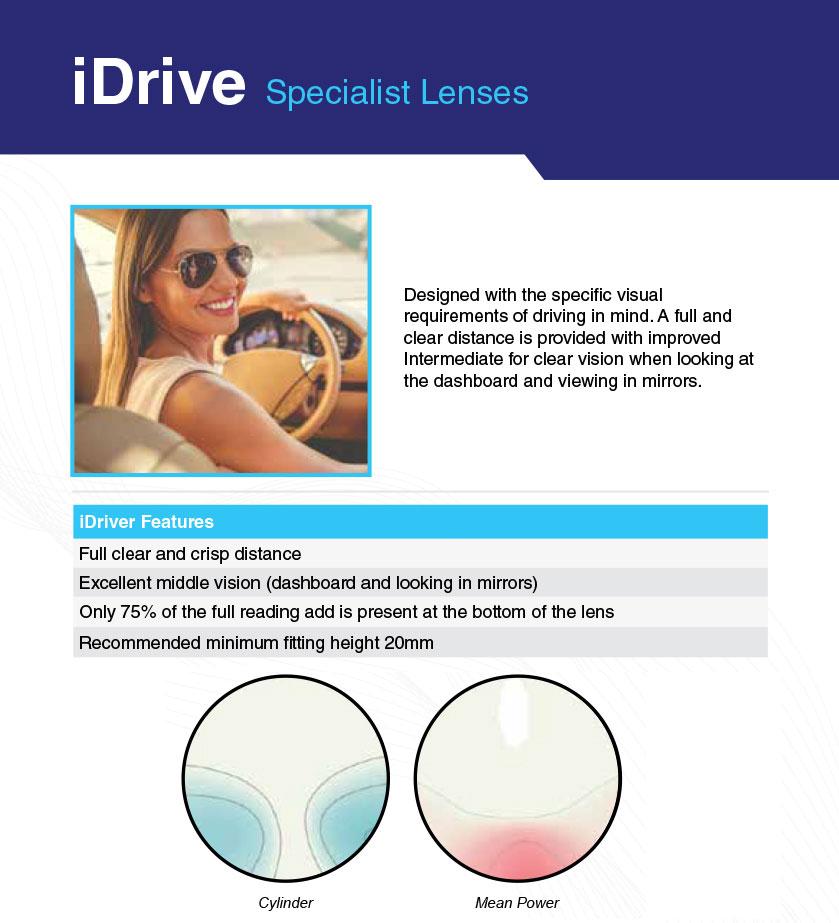 iDrive specialist lenses brochure